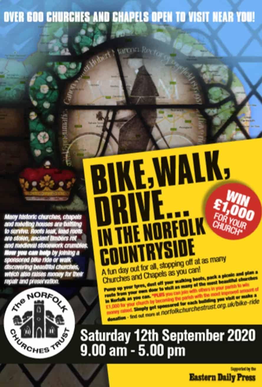 Norfolk Churches Trust Sponsored Bike Ride 2020