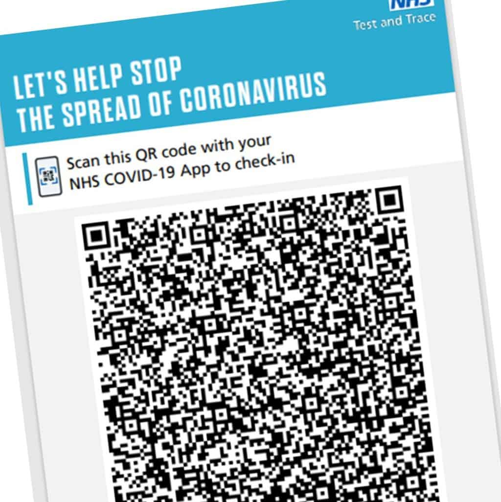 Test And Trace QR Posters In Our Churches